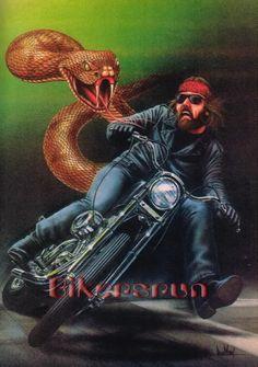 David Mann art Source by shaweek Harley Davidson Posters, Harley Davidson Wallpaper, Harley Davidson Chopper, Davidson Bike, Motorcycle Art, Bike Art, Motorcycle Posters, Baggers, Art Mann