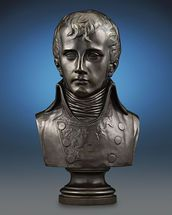 This wonderfully detailed bronze bust of Napoléon Bonaparte captures the legendary leader as First Consul after a work by famed Italian sculptor Antonio Canova ~ Bronze, France, Bust ~ M.S. Rau Antiques