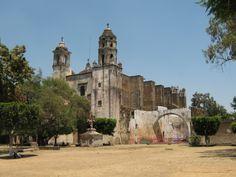 Monasterio de Tepoztlan, Morelos en México.