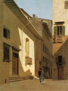 TELEMACO SIGNORINI (1835 Firenze 1835 - Firenze 1901) - Santa Maria de' Bardi Firenze 1870t