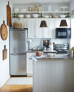Another Way to Use That Above-Cabinet Space? Hang a Shelf There!