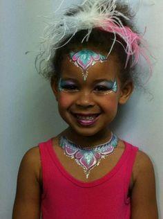 Unicorn 1 stroke Princess Tiara and necklace
