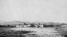 The Oregon Trail: Fort Bridger. One of the most important outfitting points for emigrants along the Oregon Trail.