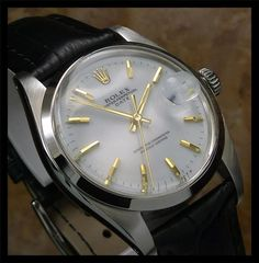 AUTHENTIC VINTAGE MENS SWISS ROLEX OYSTER PERPETUAL DATE