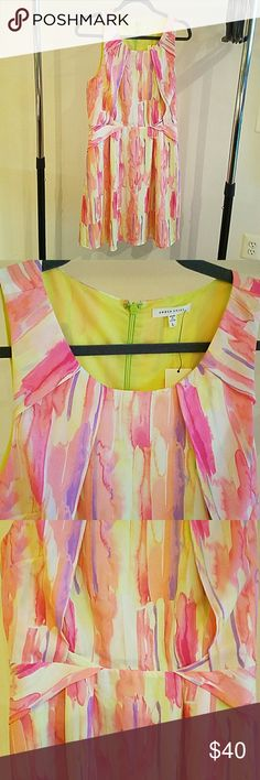 SALE! Gorgeous & bright watercolor dress Lightweight and breezy, this bight watercolor dress is both comfortable and beautiful. New with tags. Fits size 8-12. Under Skies Dresses