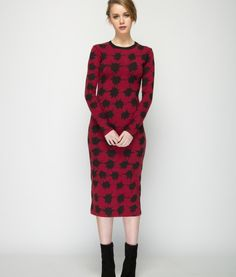 ladylike lng slve drs-red-7a