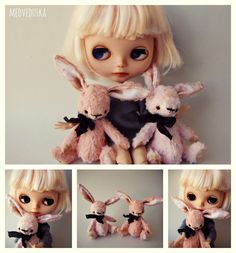 Etsy の Artist mini teddy Bunny Pattern by Medveduska
