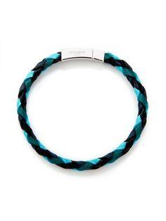 5a9c5a848a66 Fancy - Tateossian Textured Woven Leather Scoubidou Bracelet at Park & Bond  I Spy Diy,