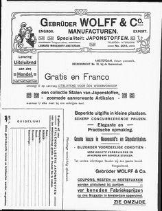 Art Nouveau advertisement for fashion fabrics.   (visit site for bigger picture)