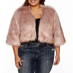 Boutique + Long Sleeve Poncho-Plus ($45) ❤ liked on Polyvore featuring plus size women's fashion, plus size clothing, plus size outerwear, plus size, faux fur poncho, plus size poncho, style poncho and long sleeve poncho