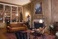Celebrity Home Libraries.  Woodrow Wilson's library in his Washington, D.C. house.