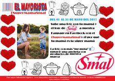 """#SuperMamaSmal  #ElMayorista este mes de mayo tiene un concurso increible  Sube una foto con tu mamá junto al logo de nuestra marca Smal y participa por una ancheta de productos Smal  Ganará al foto con más """"me gustas""""  Más información ingresa a: http://www.elmayorista.com/eventos/ Link descarga logo Smal: http://www.elmayorista.com/descarga-logo-smal/ Condiciones y restricciones del concurso: http://www.elmayorista.com/…/mis-…/condiciones-de-concursos/  ¡No te pierdas de este increible…"""