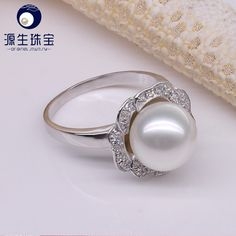 Aliexpress.com : Buy Pearl jewelry 100% real Natural Freshwater Pearl ring 9  10mm Beautiful  ring for women YSETB012 from Reliable gift bronze suppliers on pearls by yuansheng