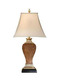 Table Lamp WILDWOOD LAMPS 1 -Light Eggshell Shade White/Cream Silkette N WL-1511