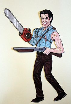 Ash Williams Evil Dead Articulated Paper Doll - inspired by Bruce Campbell