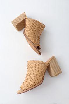 Lulus Helena Natural Suede Leather Espadrille Mules - Lulus