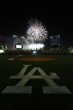 Dodgers Stadium with fireworks!