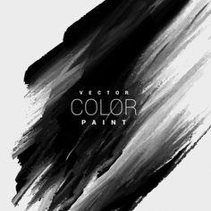 Couleur noire tache de peinture de fond Vecteur gratuit