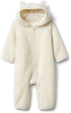 84d5f9718 BabyGap Baby Gap Girls Crazy Stripe Bear Hoodie Cardigan Sweater 0-3 ...