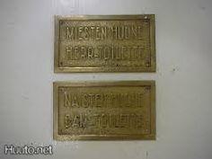 Old finnish toilett signs