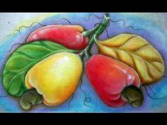Pintura em tecido Eliane Nascimento: Como eu pinto abóboras - YouTube
