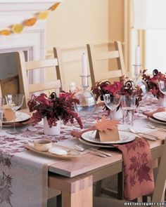 Thanksgiving table decorations by laurie