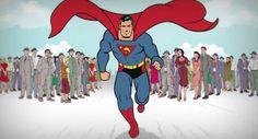 Diretor faz curta animado contando os 75 anos de história do Superman http://glo.bo/16aEqPq