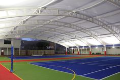 Lighting of the covered Sport fields at Chilton St James School (Lower Hutt NZ) Fields, Basketball Court, Lighting, School, Sports, Hs Sports, Light Fixtures, Sport, Lights