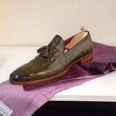#paulparkman #crocodileembossed #tasselloafer #handmade #handcrafted #luxury #mensfashion #menstyle #mensshoes