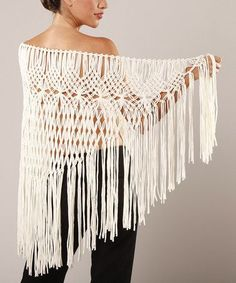 Macrame Shawl | ... find on #zulily! Ivory Macrame Shawl by Peruvian Atelier #zulilyfinds