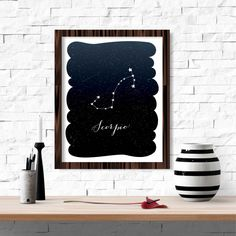 Sticker Scorpion zodiaque Constellation imprimable par FebruaryLane