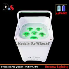Check out this product on Alibaba.com APP Infrared Ray IRC remote control RGBWA UV Par dj lighting 6x18W DMX Quad Wireless Uplights for sale
