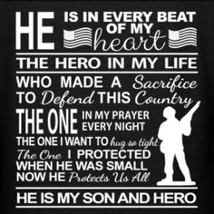 My brother my hero Army Mom Quotes, Marine Quotes, Military Quotes, Military Mom, Army Strong Quotes, Army Sayings, Son Quotes, Bible Quotes, Deployment Quotes