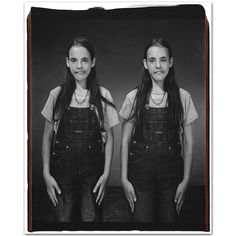 Mary Ellen Mark. Sarah and Tina LaValley, 14 years old, Sarah older by 1 minute,Twinsburg, Ohio, 2001