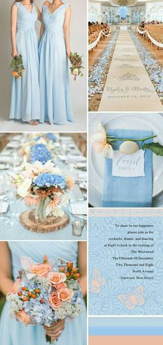 Baby blue and baby breath would be so cute for Spring