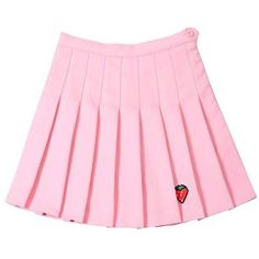 Strawberry Mini Skirt (€19) ❤ liked on Polyvore featuring skirts, mini skirts, pink mini skirt, mini skirt, short pink skirt, pink skirt and short skirts