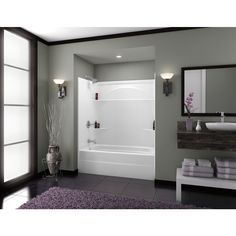 Delta White Acrylic One Piece Shower Common 32 In X 32