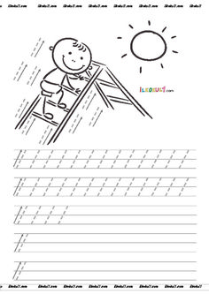 thumbnail of DİK TEMEL HARFLER ÇİZGİ ÇALIŞMALARI 4 Writing Lines, Pre Writing, Kids Writing, Numbers Kindergarten, Kindergarten Worksheets, Preschool Activities, Preschool Painting, Printable Preschool Worksheets, Alphabet Coloring Pages