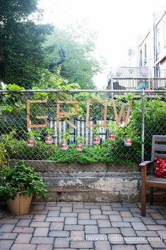GROW Chic on the Cheap: Chain Link Fence Basil Garden