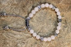 Celtic Heart Friendship Bracelet  Snow Quartz by OHineKnotwork