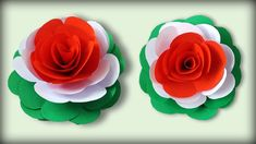 This video shows How to make DIY Tricolor Paper Flower for Republic Day and Independence Day. Very easy to do Indepen. How To Make Paper Flowers, Paper Flowers Craft, Paper Roses, Flower Crafts, Diy Flowers, Flower Diy, Color Paper Crafts, Fun Crafts, Crafts For Kids
