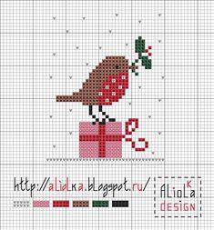 Дрібна різдвяна вишивка: підбірка веселих схем   Ідеї декору