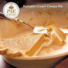 Pumpkin Cream Cheese Pie Recipe from Taste of Home -- shared by Diane Selich, Vassar, Michigan