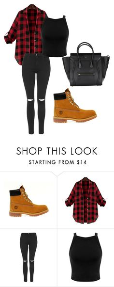 """""""Casually Cute"""" by luv-devonne-style ❤ liked on Polyvore featuring Timberland, Topshop and Miss Selfridge"""