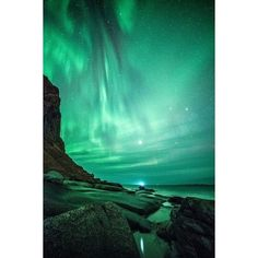 20 Amazing Photos of The Northern Lights in Norway You'll Never Forget... ❤ liked on Polyvore featuring home, lighting, colored lamps, colored light, magnetic light, solar lights and colored solar lights