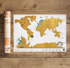 Scratch maps are a great idea to brighten up your room. They're brilliant both for reminding you of your favourite holidays and inspiring you to plan adventures for those long summer holidays. #students #freshers #interiors