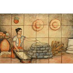 Mexican Style Mural - Cocinera