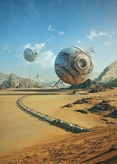 The Orbs by Tomas Muller. More concept art here.