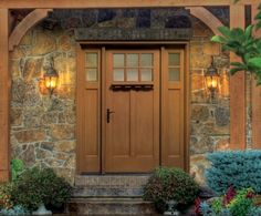This is the front door we looked at and an option for the sidelights. This door also has the added decorative ledge on the door, but that's optional. The other one you saw in town with the full length sidelights, gridded, has only 5 sections and it doesn't line up with the door's windows. I'll try to find a pic to show you, but it looked slightly off to me. The house with the red door has it that way, so take a close look next time.