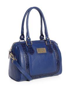 Bolsa Chessy em couro legítimo Andrea Vinci cor azul - Enluaze Loja Virtual | Bolsas, mochilas e pastas